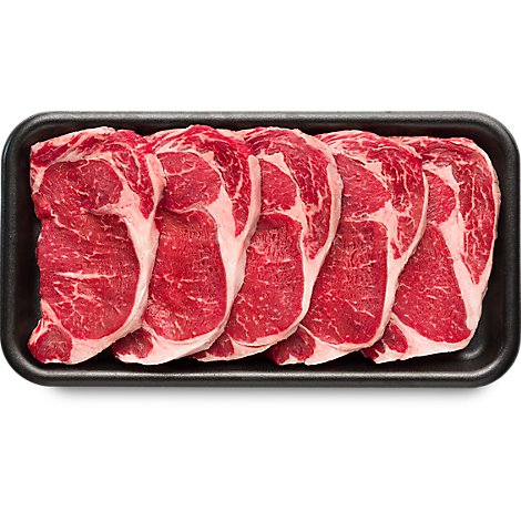 Meat Counter Beef USDA Choice Steak Ribeye Boneless Thin Value Pack - 3.00 LB