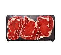 Meat Counter Beef USDA Choice Steak Ribeye Bone In Thin Value Pack - 4.00 LB