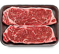 Meat Counter Beef USDA Choice Steak Top Loin New York Strip Boneless Thin - 1.50 LB