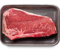 Meat Counter Beef USDA Choice Steak Top Loin New York Strip Bone In Thin - 1.00 LB