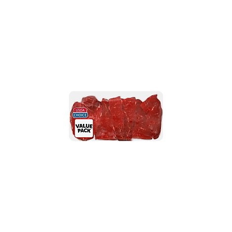 Meat Counter Beef USDA Choice Sirloin Petite Steak Thin Value Pack - 1.50 LB