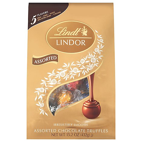 Lindt Lindor Truffles Assorted Chocolate - 15.2 Oz