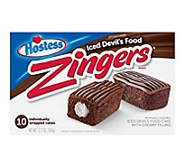 Hostess Zingers Cake Iced Devils Food 10 Count - 12.7 Oz