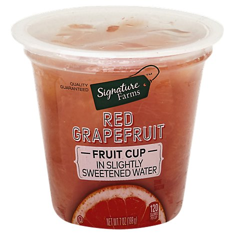 Signature Farms Grapefruit Ruby Red in Slightly Sweetened Water - 7 Oz