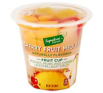 Signature Farms Fruit Medley Cherry In Extra Light Syrup - 7 Oz