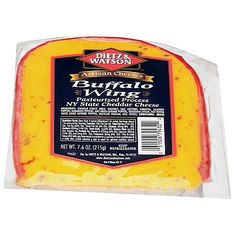 Dietz & Watson Buffalo Hot Wing Ny Cheddar - 7.6 Oz