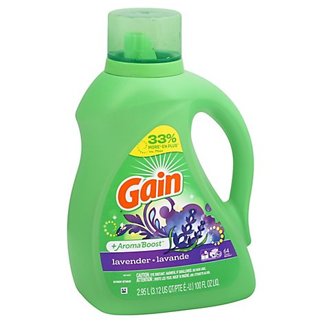 Gain Plus Aroma Boost Laundry Detergent Liquid Lavender 64 Loads - 100 Fl. Oz.