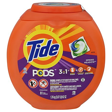 Tide PODS Detergent Pacs Spring Meadow - 81 Count