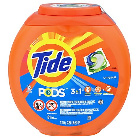 Tide PODS Detergent Pacs Original - 81 Count