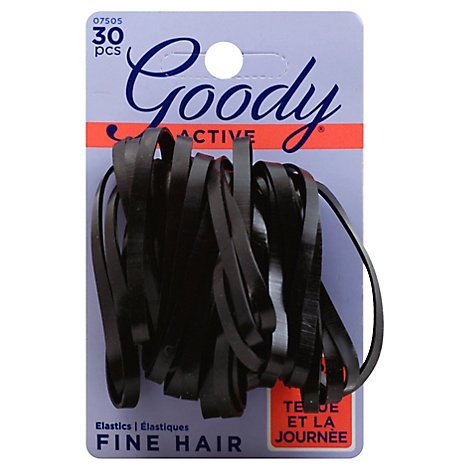 Goody Elastics Slideproof Latex Black 4mm - 30 Count