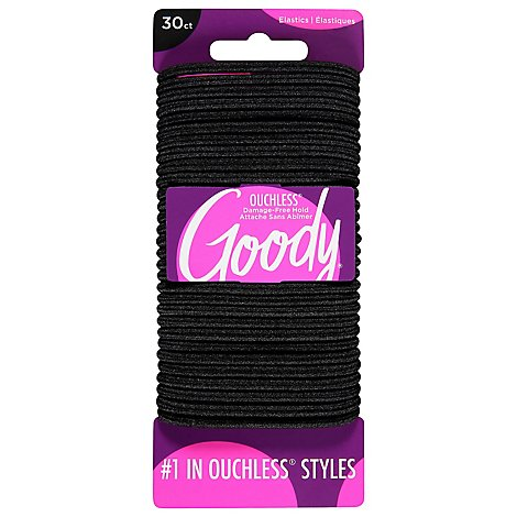 Goody Elastics Ouchless Thick 4mm Black - 30 Count