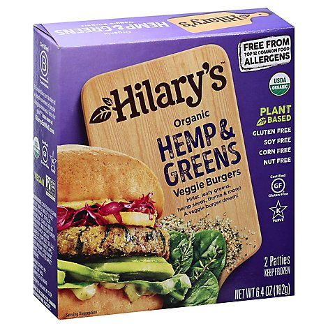 Hilarys Eat Well Hemp And Greens Burger - 6.4 Oz