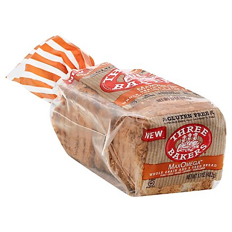 Three Bakers Max Omega Bread - 17 Oz