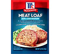 McCormick Seasoning Mix Meat Loaf 30% Less Sodium - 1.25 Oz
