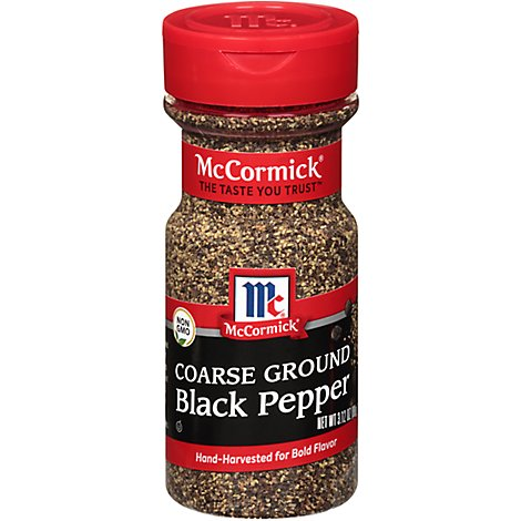 McCormick Pepper Black Coarse Ground - 3.12 Oz