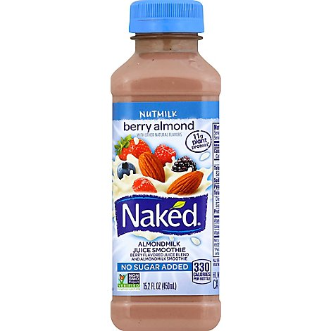 Naked Juice Smoothie Almondmilk Nutmilk Berry Almond - 15.2 Fl. Oz.