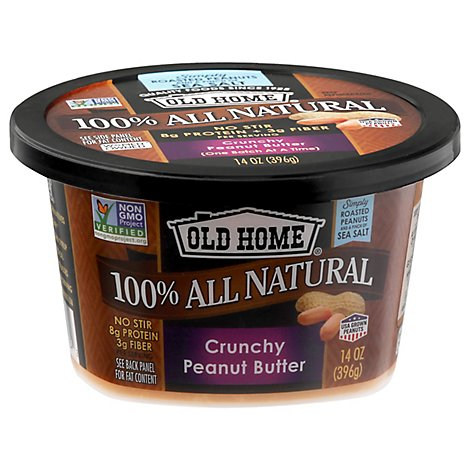Old Home Peanut Butter Crunchy - 14 Oz