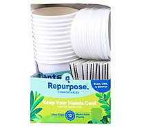 Repurpose Hot Cups & Lids Compostable Box - 12 Count