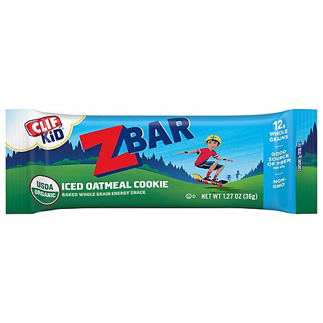 CLIF Kid ZBar Organic Iced Oatmeal Cookie - 1.27 Oz