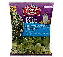 Fresh Express Salad Kit Caesar Greek - 7.55 Oz