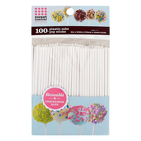 Sweet Creations Cake Pop Stick Plastic 6 Inch - 100 Count