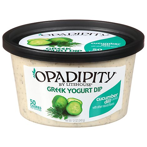 Litehouse Opadipity Dip Yogurt Greek Cucumber Dill - 12 Oz