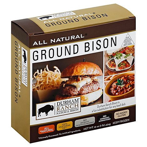 Durham Ranch Ground Bison - 1 Lb