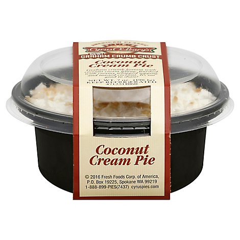 Cream Pie Coconut Single Serve - Each