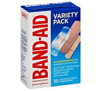 BAND-AID Brand Adhesive Bandages Variety Pack Assorted Sizes - 30 Count