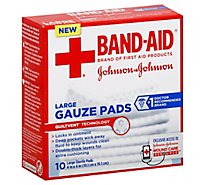 BAND-AID Gauze Pads Large - 10 Count