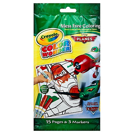Crayola Color Wonder Cars Markers & Mini Coloring Pad - Each