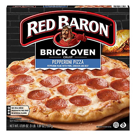 Red Baron Pizza Brick Oven Crust Pepperoni - 17.89 Oz