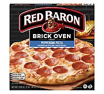 Red Baron Pizza Brick Oven Crust Pepperoni Frozen - 17.89 Oz