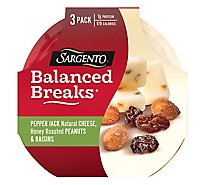 Sargento Balanced Breaks Cheese Snacks Pepper Jack 3 Pack - 3-1.5 Oz
