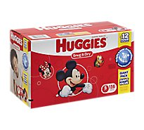 Huggies Snug & Dry Diapers Triple Layer Protection Size 5 Giant Pack - 136 Count