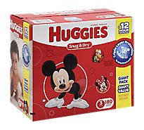 Huggies Snug & Dry Diapers Size 3 Giant Pack - 180 Count