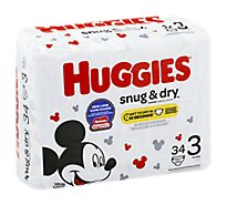 Huggies Snug & Dry Diapers Size 3 Jumbo Pack - 34 Count