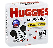 Huggies Snug & Dry Diapers Plus Wetness Indicator Size 4 - 29 Count