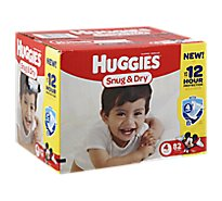 Huggies Snug & Dry Diapers Triple Layer Protection Size 4 - 82 Count