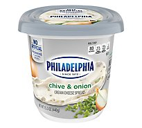Philadelphia Cream Cheese Spread Chive & Onion - 16 Oz