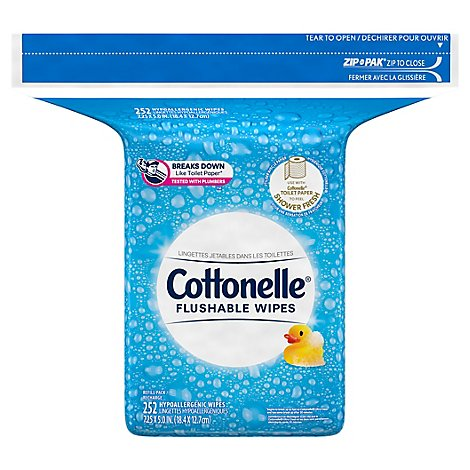 Cottonelle FreshCare Cleansing Cloths Flushable Refills Bag - 252 Count