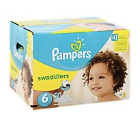Pampers Swaddlers Diapers Size 6 (35+ lb) Sesame Beginnings - 50 Count
