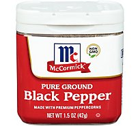McCormick Pepper Black Pure Ground - 1.5 Oz