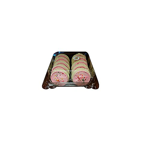 Bakery Cookies Pink Frosted 10 Count - Each