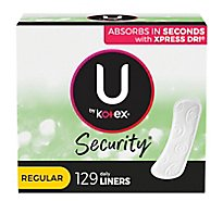 U by Kotex Lightdays Liners Daily Regular Big Pak! - 129 Count