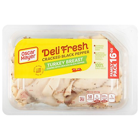Oscar Mayer Deli Fresh Turkey Cracked Black Pepper Family Size - 16 Oz