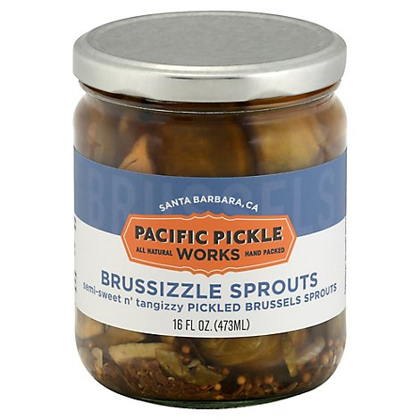 Pacific Pickle Works Pickled Brussel Sprouts Brussizzle Sprouts - 16 Fl. Oz.