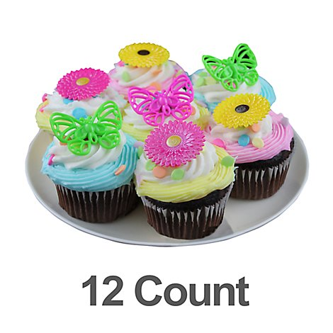 Bakery Cupcake Mini Chocolate Spring 12 Count - Each