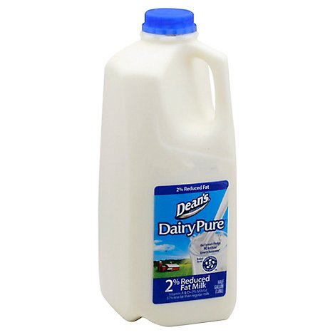 DairyPure Milk Reduced Fat 2% - Half Gallon