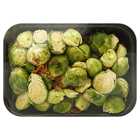 Fresh Cut Brussels Sprouts With Bacon Pieces - 10 Oz